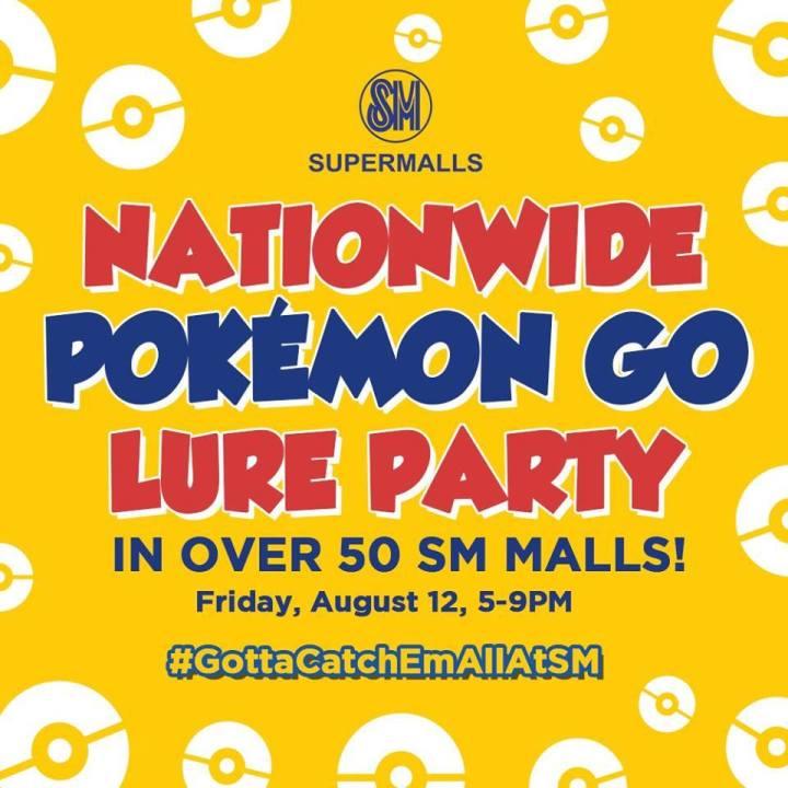 The SM Supermalls Pokemon Go Lure Party | Cebu Finest