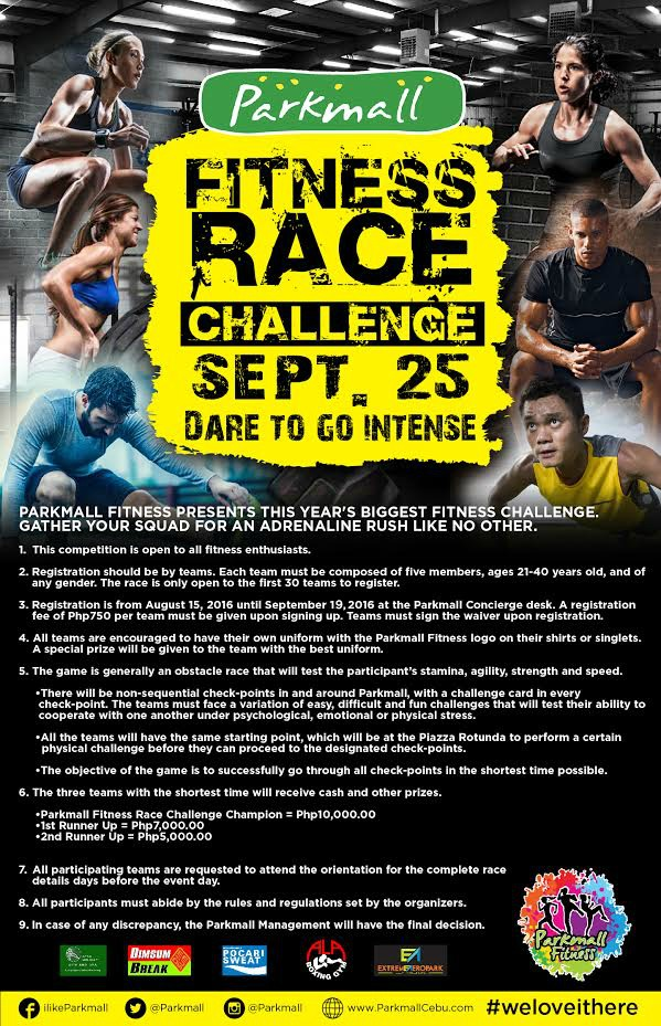Dare to go intense with Parkmall Fitness Race Challenge | Cebu Finest