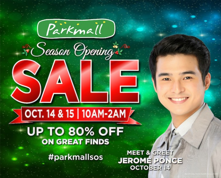The Parkmall Season Opening Sale to Welcome the Holidays in Cebu   Cebu Finest