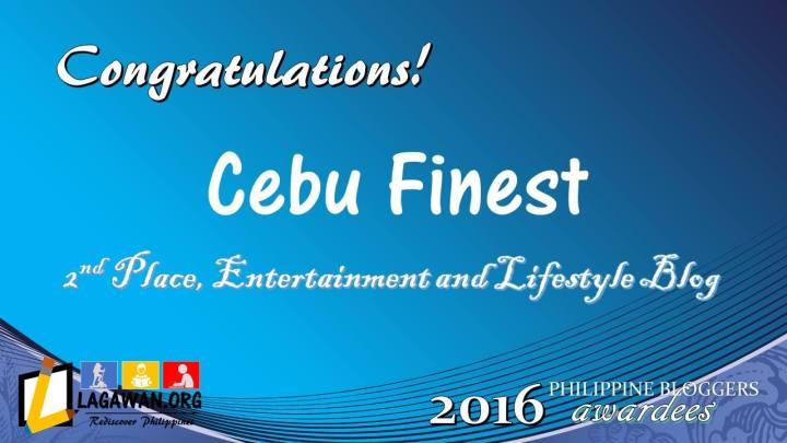 CebuFinest.com wins Philippine Bloggers Awards 2016   Cebu Finest