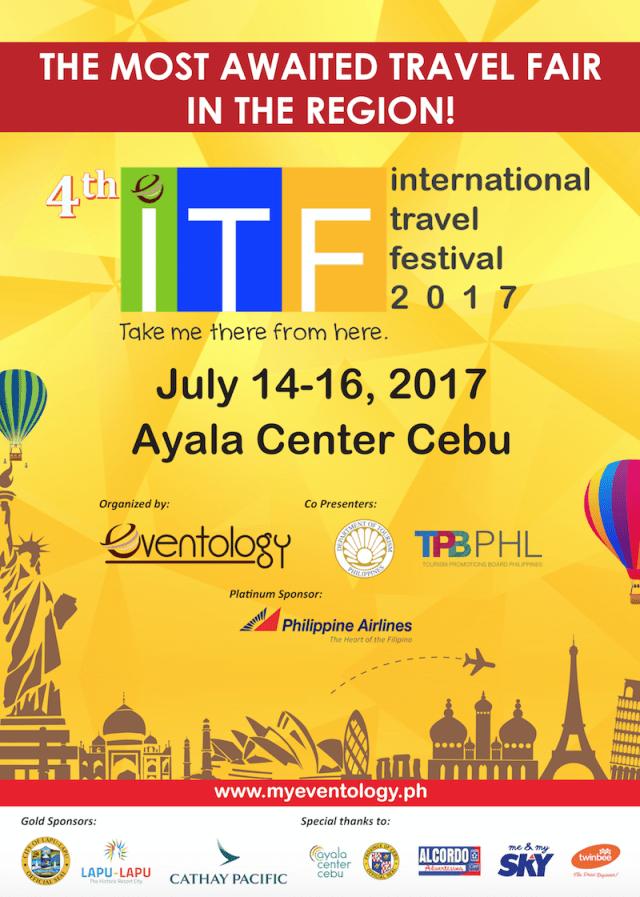 International Travel Festival 2017 in July at Ayala Center Cebu | Cebu Finest