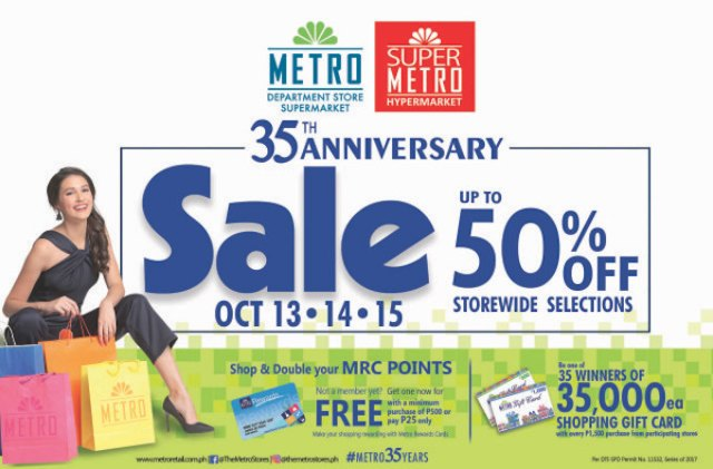 Metro celebrates 35th Anniversary All-Out Sale this October | Cebu Finest