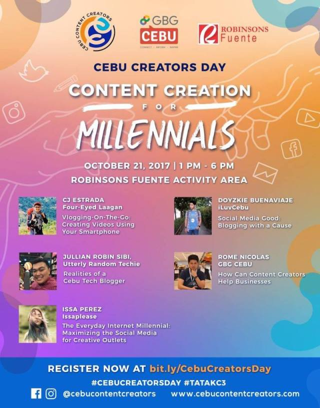 Join the Cebu Content Creators Convention on October 21 at Robinsons Fuente | Cebu Finest