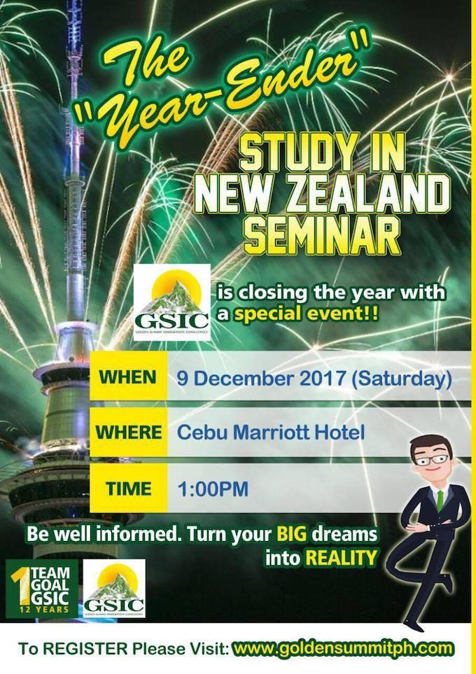 """The GSIC """"Study in New Zealand"""" Year-Ender Seminar in Cebu   Cebu Finest"""