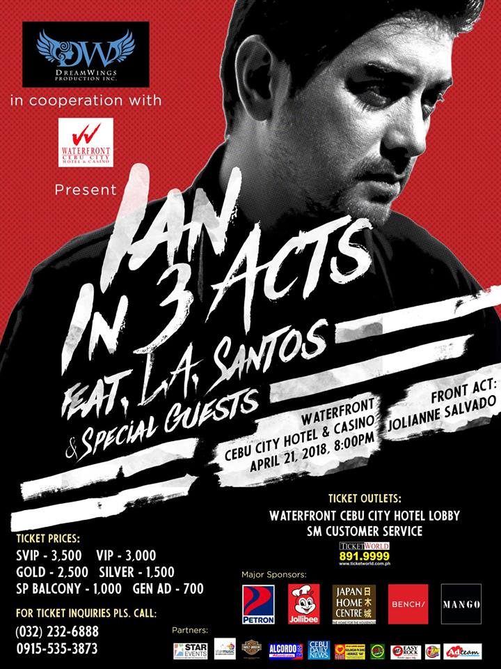 IAN: In 3 Acts, The Ian Veneracion Solo Concert in Cebu   Cebu Finest