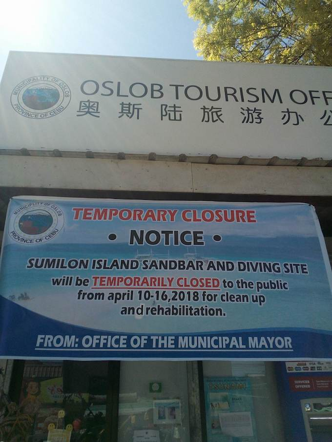 Sumilon Island Sandbar temporarily closes operation, needs rehabilitation and cleanup | Cebu Finest