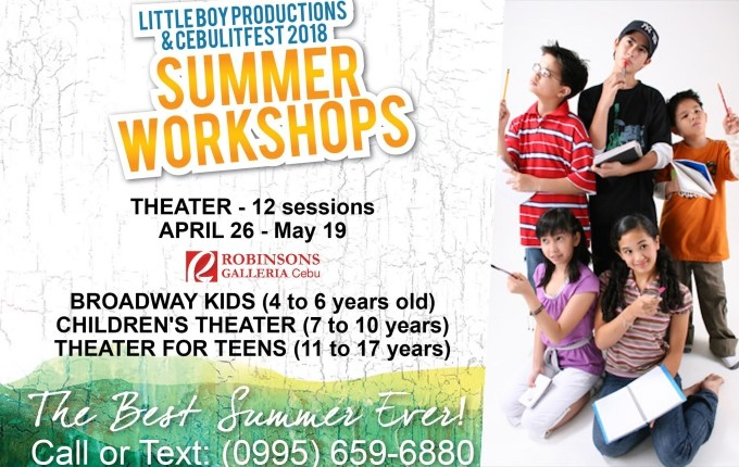 Summer 2018 Workshops for Kids And Young Adults in Cebu   Cebu Finest