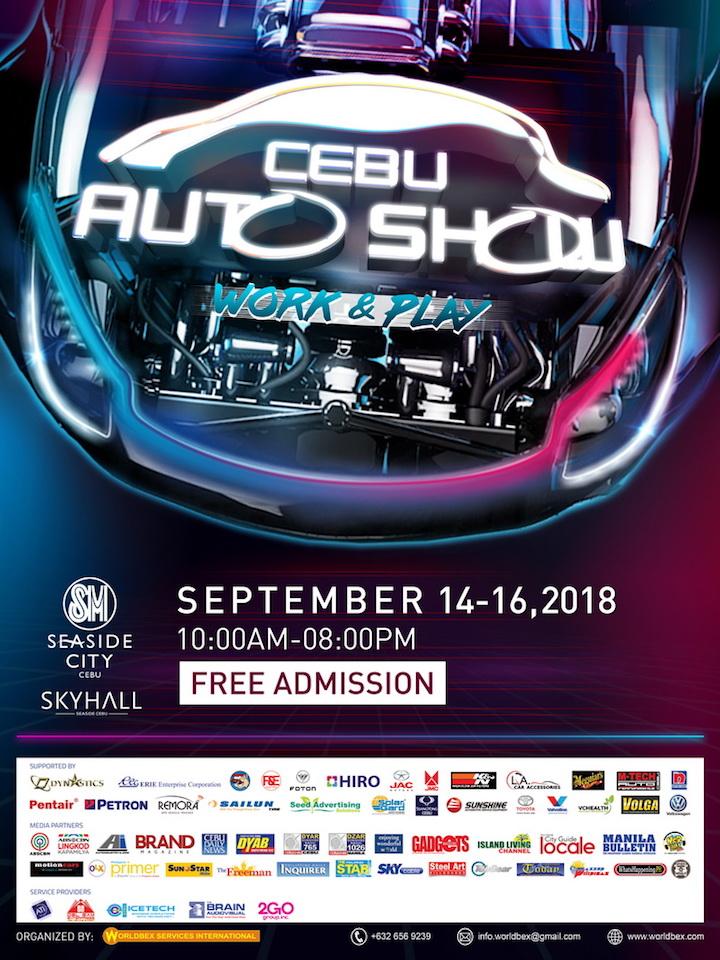 Get excited for the Cebu Auto Show 2018 at SM Seaside City Cebu   Cebu Finest