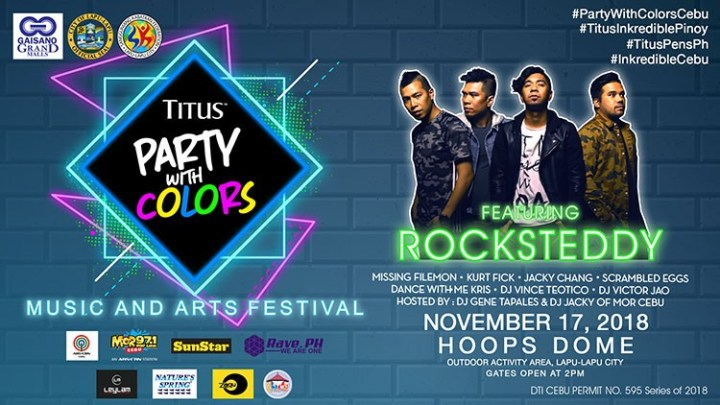 Titus Pens Party with Colors 2018: Music and Arts Festival in Cebu   Cebu Finest
