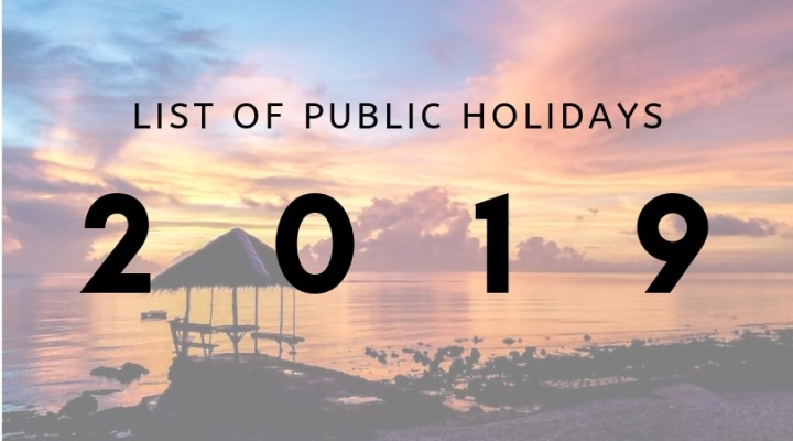 Save The Dates: 2019 Public Holidays in the Philippines   Cebu Finest