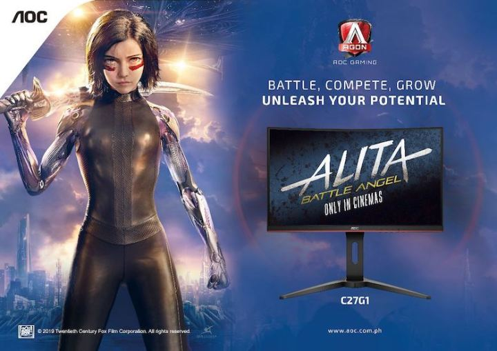 "AOC Monitors teams up with Twentieth Century Fox for ""Alita: Battle Angel"" Release   Cebu Finest"