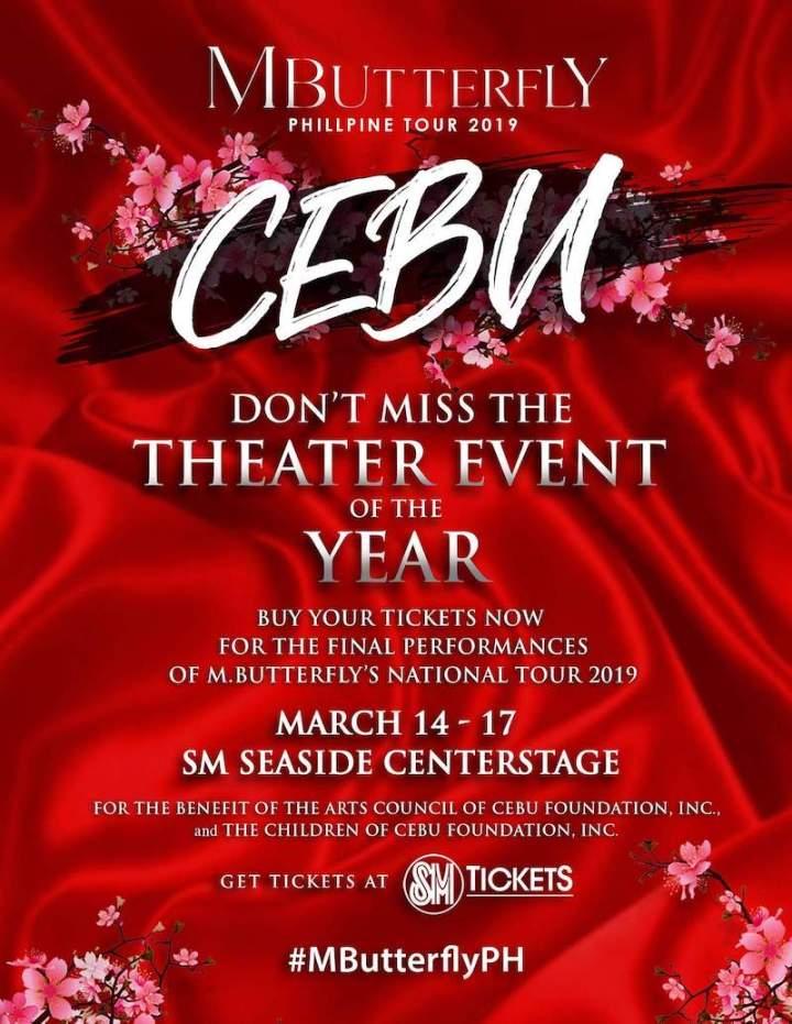 M. Butterfly National Tour 2019, sets final performances on March 14-17 in Cebu | Cebu Finest
