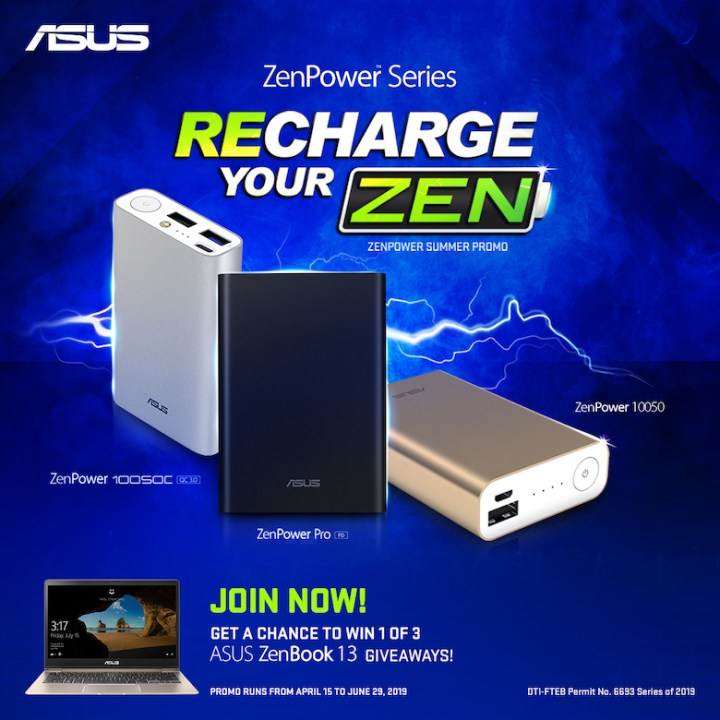 """ASUS Philippines powers up the summer season with the """"Recharge Your Zen"""" promo 