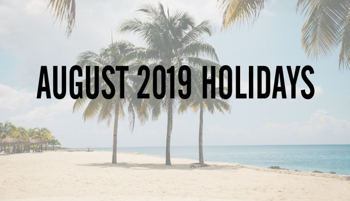 August 2019 Holidays in Cebu: 4 to date and a long holiday weekend | Cebu Finest