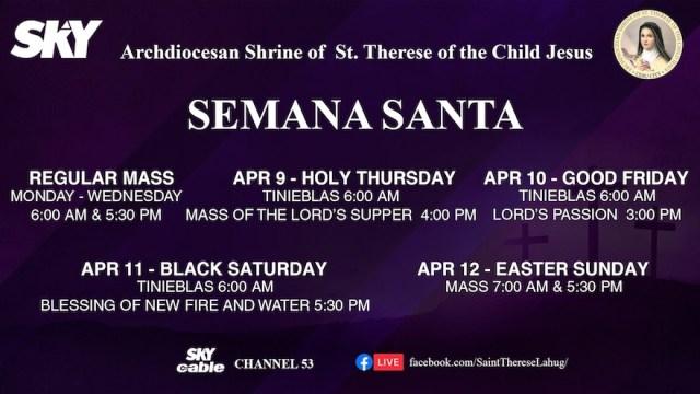 SKY presents Holy Week Celebration and Mass Schedules   Cebu Finest
