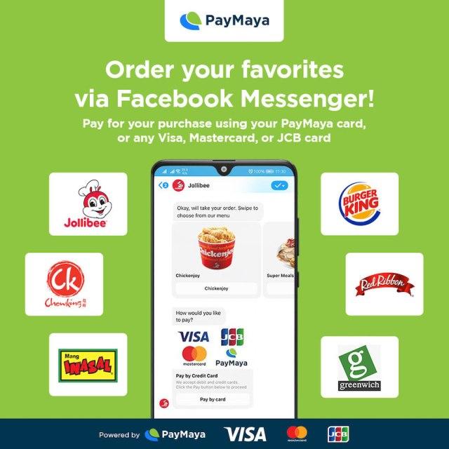 JFC partners with PayMaya to pioneer cashless ordering via Facebook Messenger | Cebu Finest