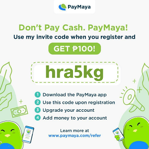 Upgrade your PayMaya account for FREE using the code hra5kg and get a bonus reward | Cebu Finest