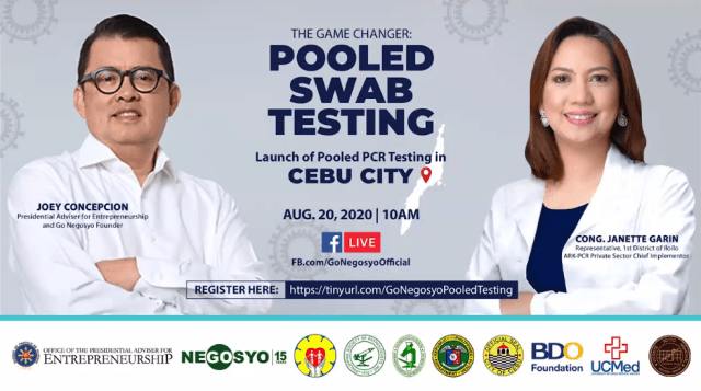 Virtual MOA signing to roll out Go Negosyo's pooled PCR testing in Cebu City | CebuFinest