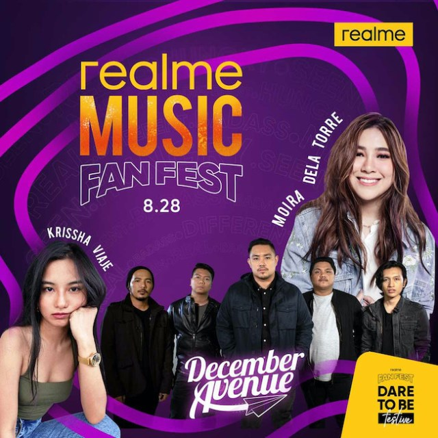 realme Music Fanfest, a virtual music festival just for realme fans featuring Moira dela Torre, Krissha Viaje, and December Avenue. | CebuFinest
