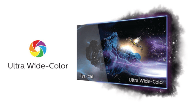 Ultra Wide-Color for a wider range of colors for a vivid picture.   CebuFinest