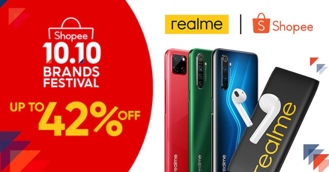 Philippines's top 2 smartphone brand realme at the Shopee 10.10 Brand Festival Sale on October 10. | CebuFinest