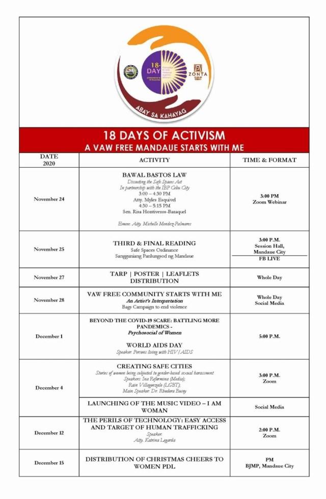 The 18-day campaign organized by the Zonta Club of Cebu II | CebuFinest