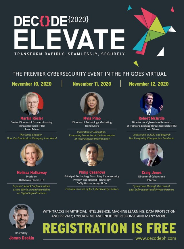 Six international speakers will deliver keynote addresses during the DECODE 2020 confab. | CebuFinest