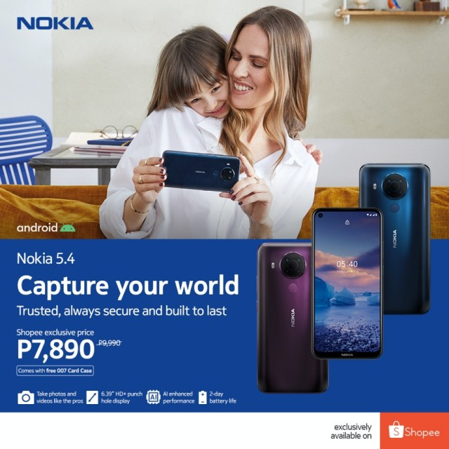 The new Nokia 5.4 now exclusively available for Php 7,890 on Shopee | CebuFinest