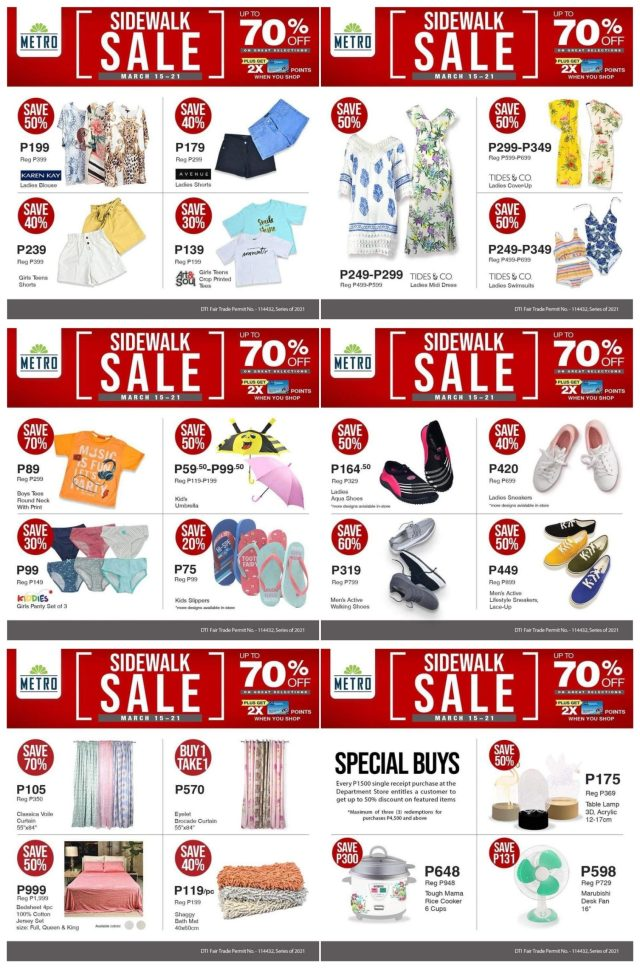 The Metro Sidewalk Sale returns as Metro's first major sale this year with up to 70% discount   CebuFinest