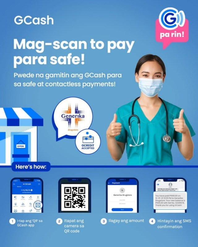 GCash Scan to Pay will now be made available in 435 Generika Drugstores nationwide   CebuFinest