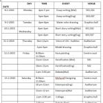 UTSAV '10 Off-Stage Event Schedule