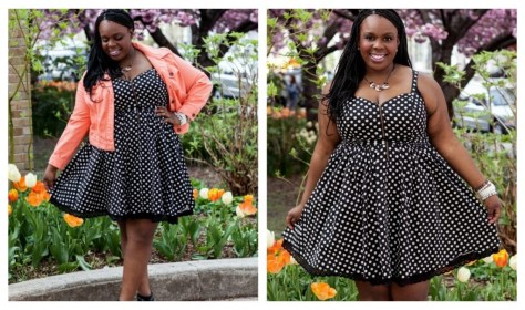 CeCe Olisa Plus Size Fashion Polka Dot Dress .jpg