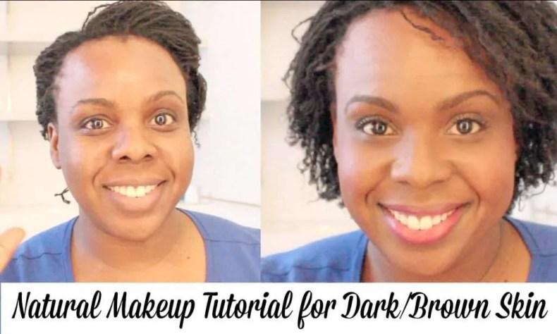 Natural Makeup Tutorial for Dark-Brown Skin