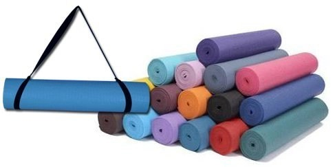 super thick yoga mat with strap