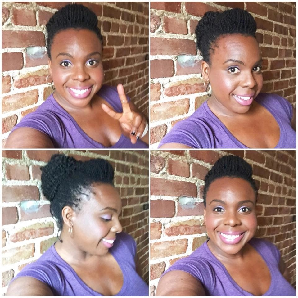 Loc Tutorial How to Make a Bun with Short Sister Locks and Marley Hair