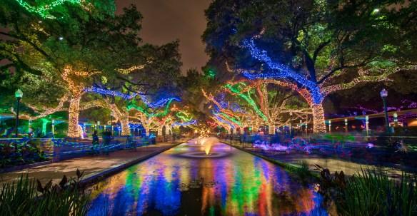 """Zoo lights waterway"" on flickr by John Stephen Chandler"