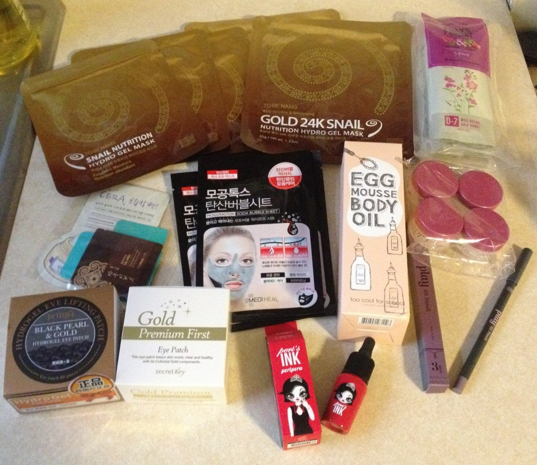 Haul: First RoseRoseShop Order! Gold Eye patches, Masks & Peripera's new Lip Ink