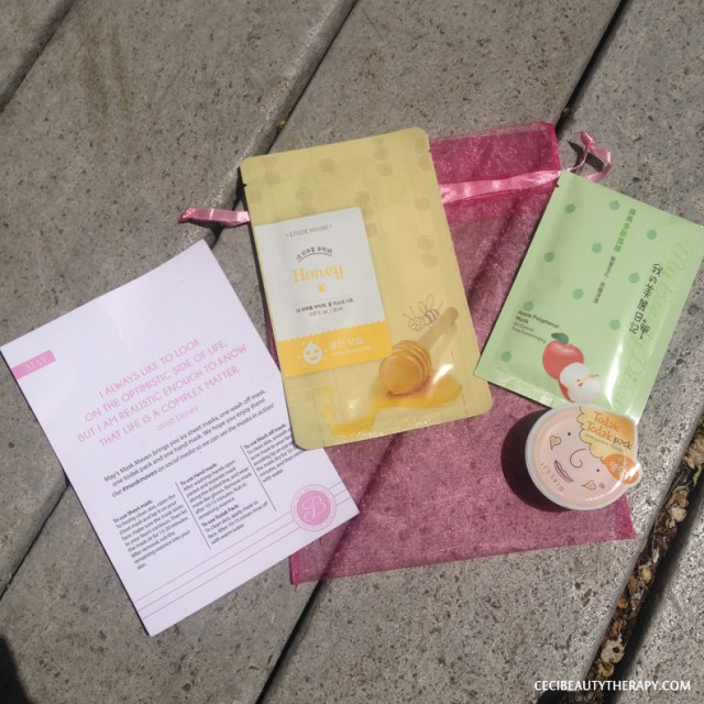 Etude House I Need You Honey sheet mask, My Beauty Diary Apple Polyphenol Mask and It's Skin Todak Todak Pack in #02 Nutrition wash-off pack