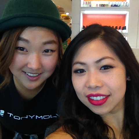Tony Moly Flagship NYC Ktown hair and makeup station area