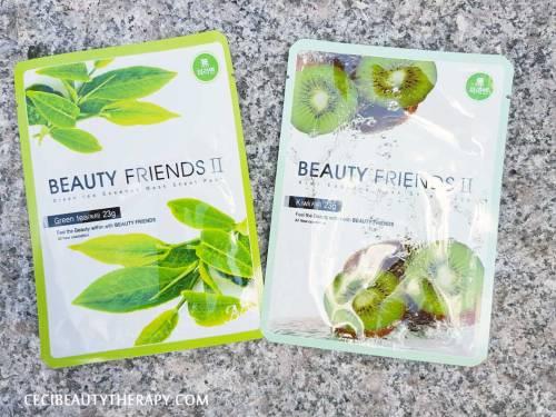 Beaut Friends Green TEa and Kiwi Sheet Masks