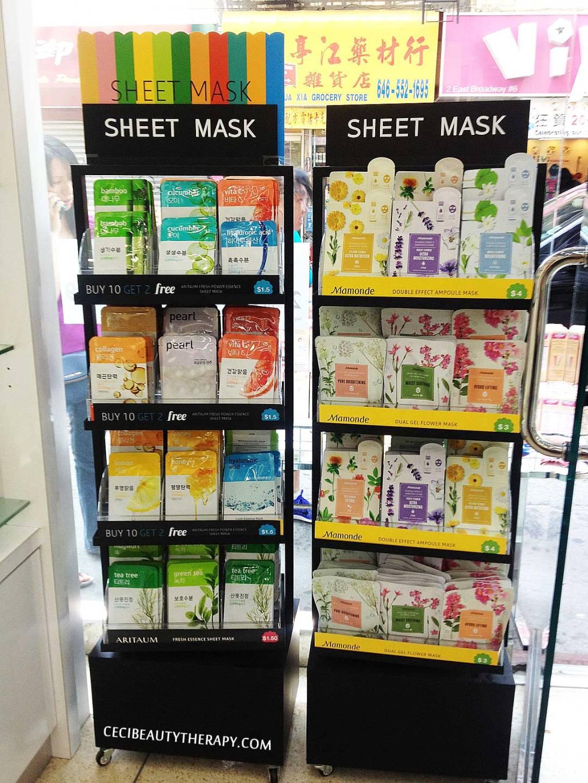 Aritaum and Mamonde sheet masks in Chinatown NYC kbeauty