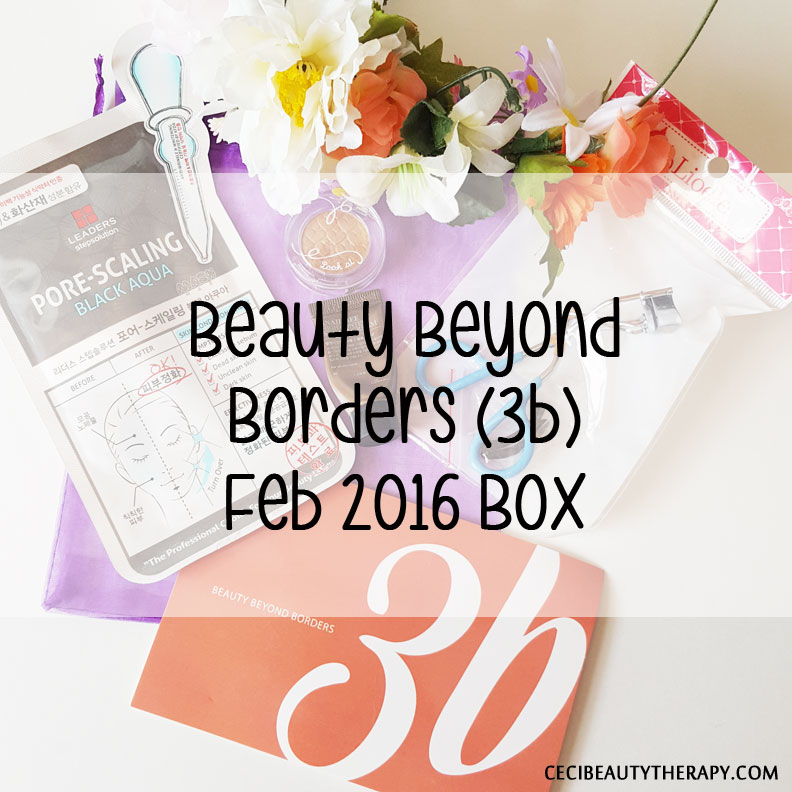 Unboxing February 2016 3b (Beauty Beyond Borders) Box