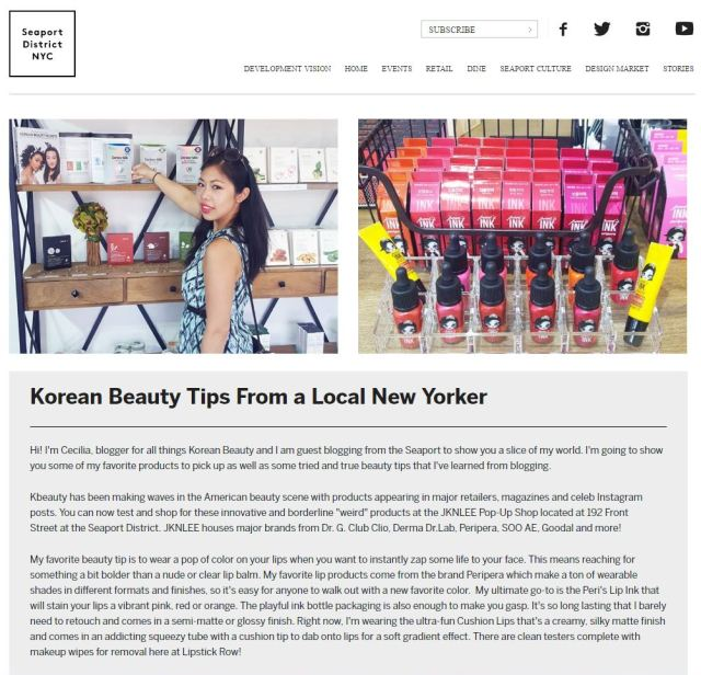 south street seaport local kbeauty tips