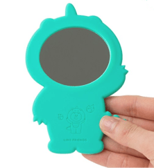 Dino Brown Hand Mirror Back $11.95