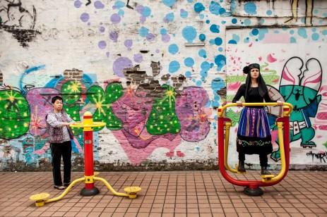 Muita saúde no parque China , 2014 © ceci de f