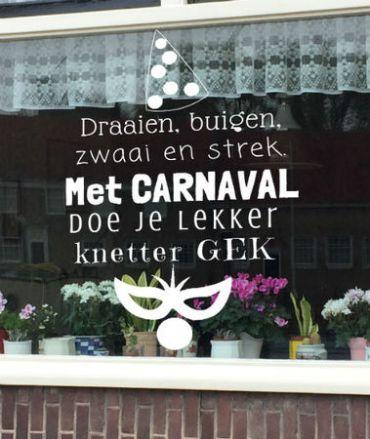 raamtekening carnaval quote