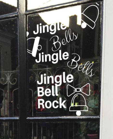 raamtekening kerst, raamtekening jingle bells, raamtekening kerstliedjes