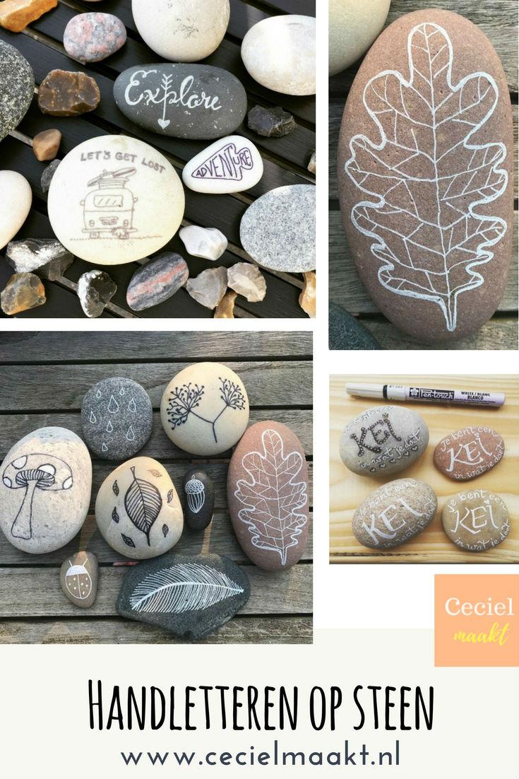 Handletteren op steen