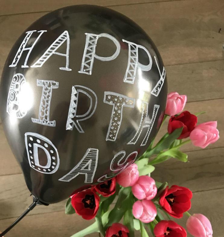Maak je eigen Happy B-day krijt ballon