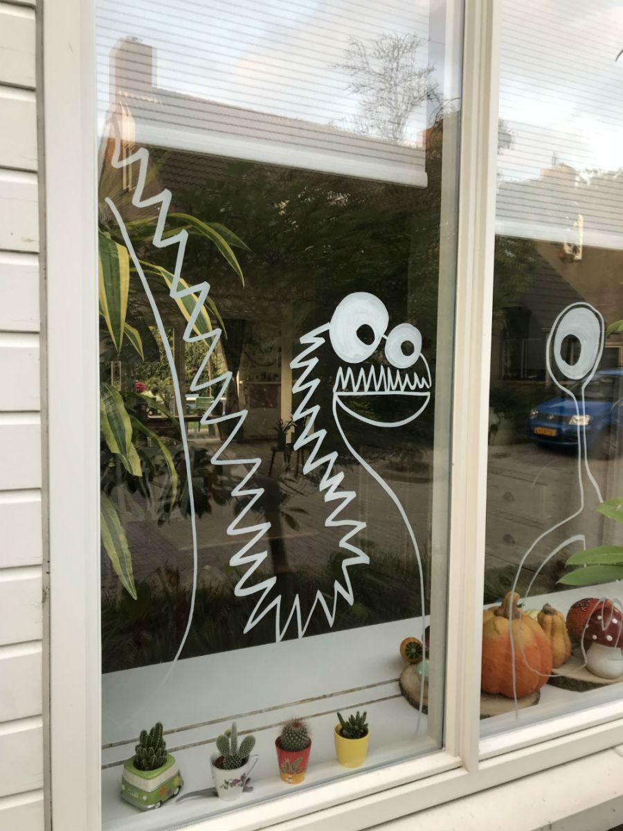 Halloween raam - Halloween crea hop